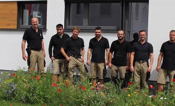 Von links nach rechts sind Friedrich Fiegenbaum, Johannes Braun, André Gross, Mersudin Hamidovic, Tobias Dernek und Markus Belz zu sehen.
