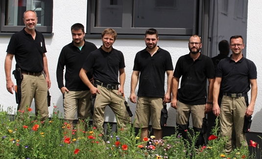 Von links nach rechts: Friedrich Fiegenbaum, Johannes Braun, André Groß, Mersudin Hamidovic, Tobias Dernek und Markus Belz